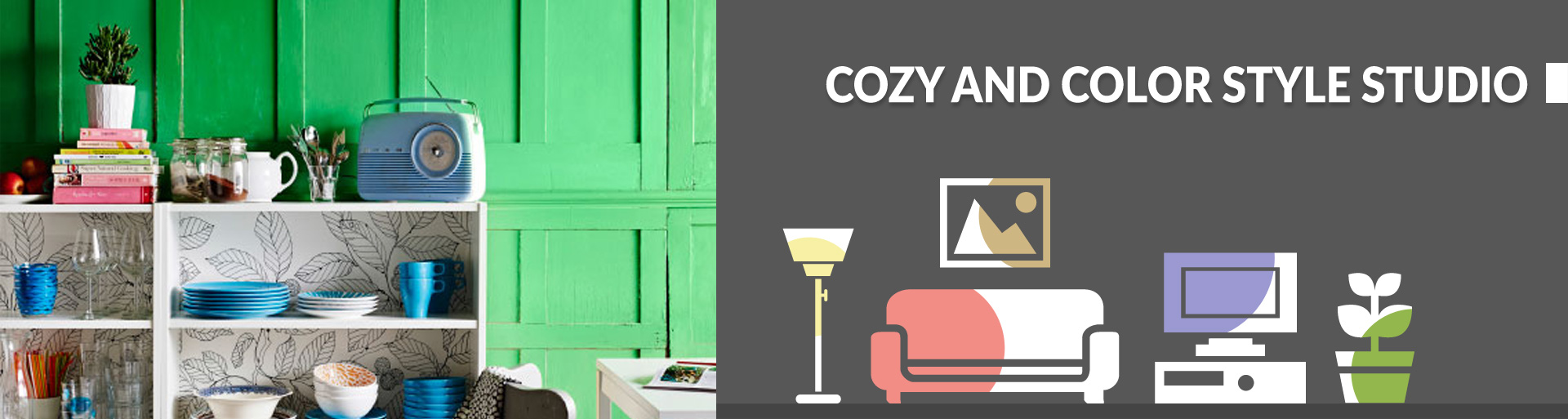 Cozy and color style studio